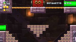 New Super Luigi U - Rocky-Candy Mines Secret Exit (6-T) & Secret Level (6-6 Spine Coaster Stowaways)
