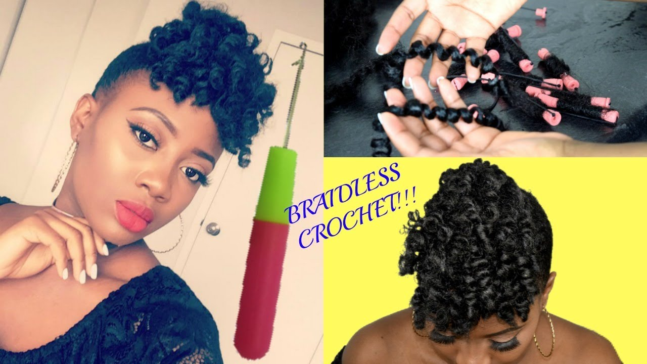 Braidless Crochet Braids Front Afro Puff Natural