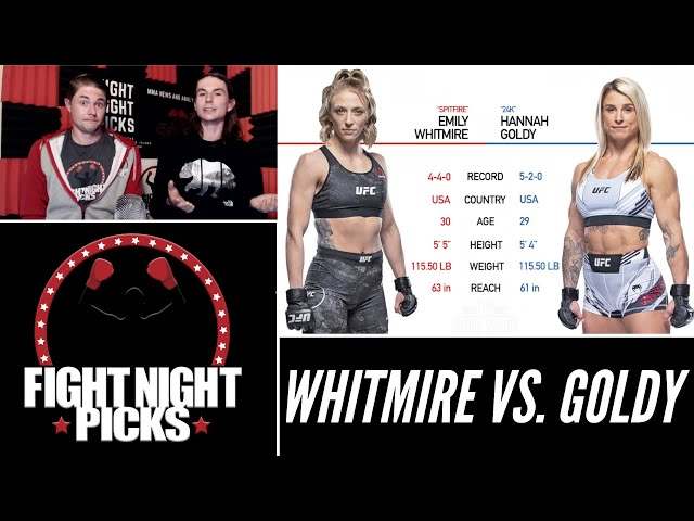 UFC Fight Night: Emily Whitmire vs. Hannah Goldy Prediction