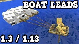 Minecraft Xbox / PE Exclusive Aquatic Feature: BOAT LEADS Tutorial