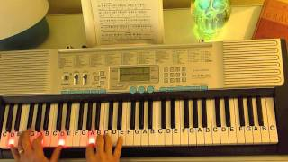 How to Play ~ Here I Am to Worship - Key of G ~ Hillsong United ~ LetterNotePlayer ©
