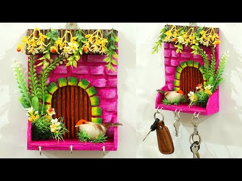 diy-for-home---unique-diy-key-holder-for-wall-|-handmade-crafts-|-easy-best-out-of-waste