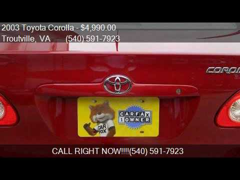 2003 Toyota Corolla CE 4dr Sedan for sale in Troutville, VA