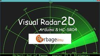 Visual radar 2D dengan Arduino dan Ultrasonik Sensor