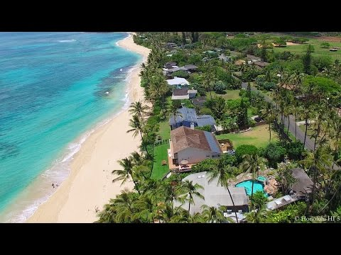 Aerial Tour of Oceanfront North Shore Oahu Homes