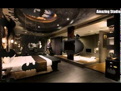 Batman Bedroom Decor Ideas - YouTube