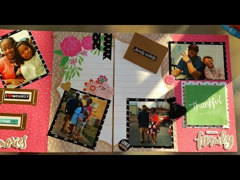 How to make a family tree scrapbook album