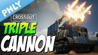 Crossout - TRIPLE 88mm CANNON TANK - So much destruction (Crossout Gameplay)