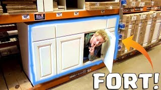HIDDEN SHELF FORT!