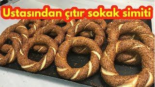istanbul simiti nasıl yapılır/ simit tarifi - sokak simiti- How to make Turkish crispy bagel