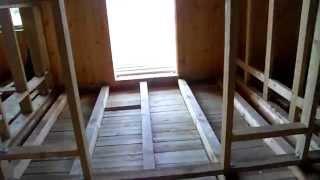 видео Дома из вертикального бруса: строительство и сборка