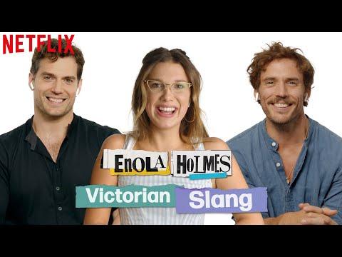 Millie Bobby Brown, Henry Cavill, + Sam Claflin Guess Victorian Slang   Enola Holmes   Netflix
