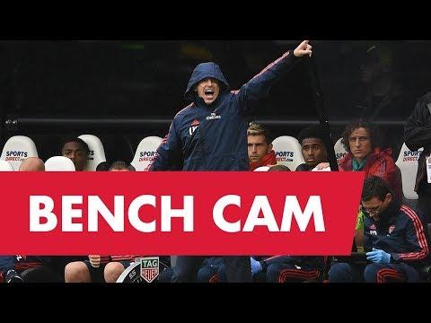 ARSENAL BENCH CAM   Newcastle Utd 0 - 1 Arsenal   Unai Emery, Pepe, Ceballos