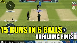 🔥BUMRAH JUST SAVE THE MATCH | NZ NEED 15 RUNS IN 6 BALLS | THRILLING FINISH IN REAL CRICKET 19