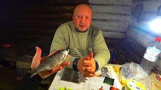 Проверка сеток после ночи. Вяленая рыба, как я её чищу. Первый лёд! Вечер в избе.