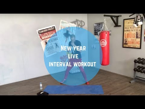 New year live interval low impact workout