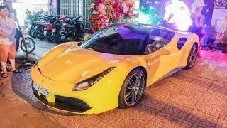 Minh Nhựa, Phan Thành cùng Lamborghini Aventador Roadster đi dự sự kiện | XSX