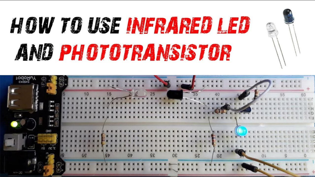 Infrared Led Ir And Photo Transistor Simple Circuit Youtube Tachometer Making Easy Circuits