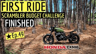 FIRST RIDE ★ Honda CX500 Scrambler on a Budget Challenge Completed