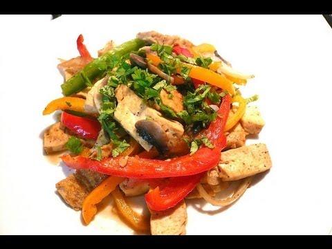 receta tofu y verduras