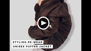 Styling Our RE-Wear Unisex Puffer Jacket