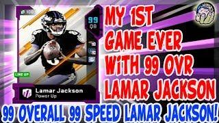 99 OVERALL LAMAR JACKSON REVIEW! LAMAR JACKSON IS REALLY GOOD! MADDEN 19 LAMAR JACKSON Gameplay