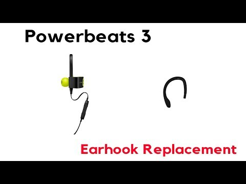 fb2f1f37dca How to Repair PowerBeats 3 Wireless Left Ear Hook Replacement - YouTube