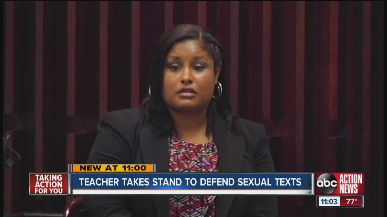 Ex-teacher: I sent sexual texts as therapy