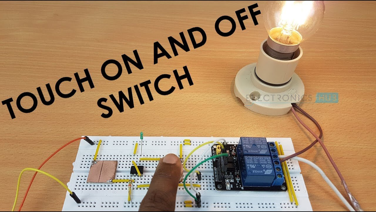 Touch On And Off Switch Youtube Push Button Using Transistors Circuit Diagram
