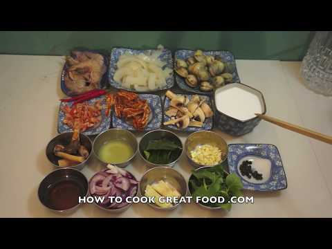 Thai Seafood in Coconut Milk Recipe – Squid Clams Shrimp – Asian Video