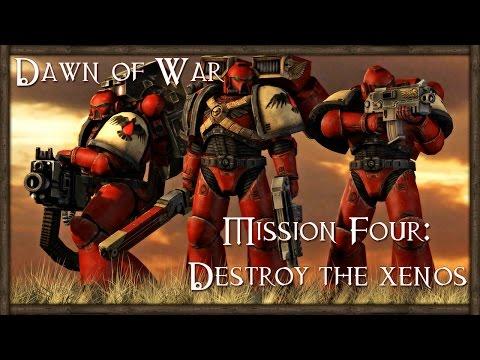 Warhammer 40K: Dawn of War 1 Gameplay - Campaign Walkthrough Part 4 - Destroy the Xenos