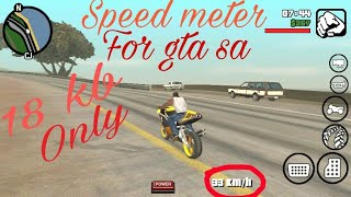 How to add speed meter in gta san andreas