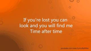 Cyndi Lauper - Time After Time Lyrics