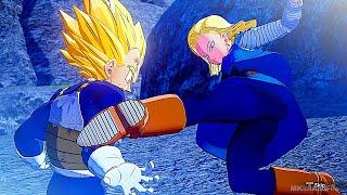 Super Vegeta Vs Android 18 Fight Scene - Dragon Ball Z Kakarot