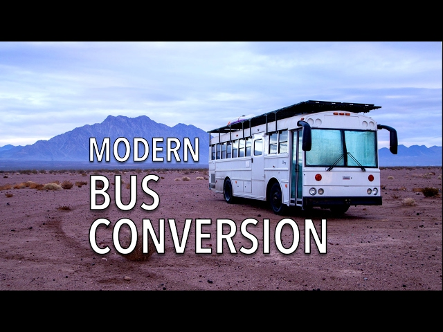 This couple's school bus is a modern motorhome for working