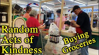 Random acts of kindness Paying for strangers groceries