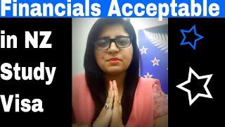 Financials required in New Zealand Study Visa.