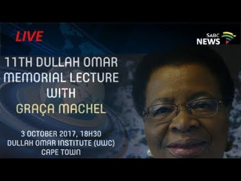 Graça Machel delivers the 11th Dullah Omar Memorial Lecture
