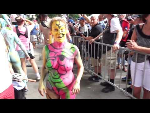 Private Model & Artist Area at the 2017 NYC Body Painting Day (Part 1) | July 22, 2017