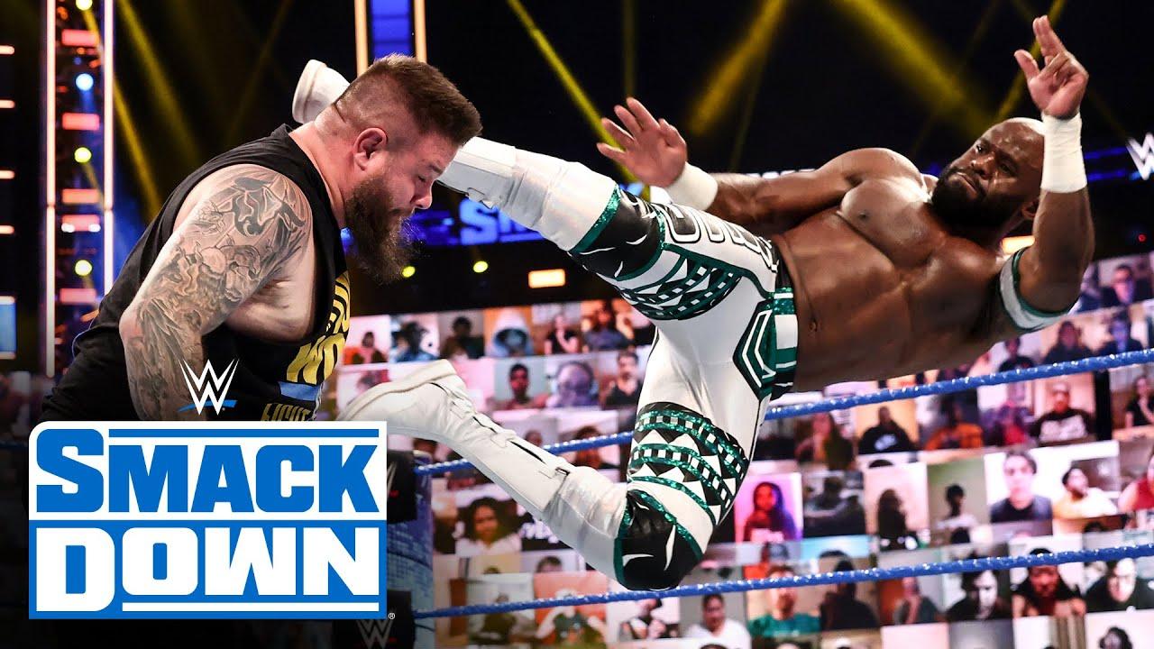 Apollo Crews vs. Kevin Owens - Intercontinental Title Match: SmackDown, April 23, 2021
