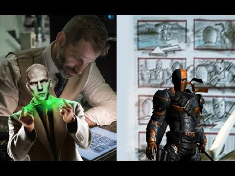 Zack Snyder Storyboard with Deathstroke and Lex Luthor Discussion