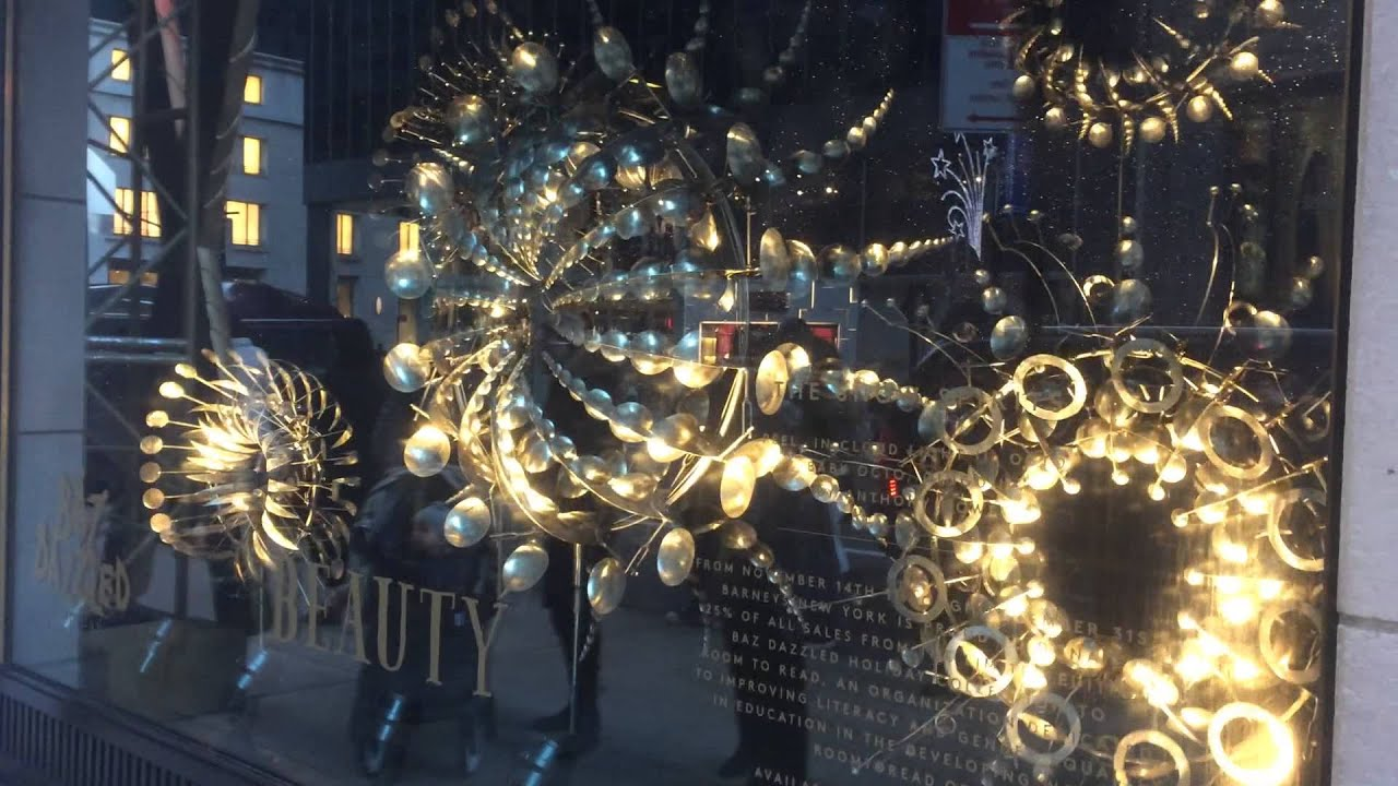 Christmas Windows at the Barney\'s, NYC (Part II) - YouTube