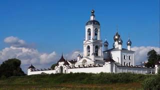 видео Ивановская область Антушково Погост-Крест. Монастырь Животворящего Креста Господня 22 ноября 2014
