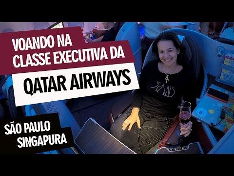 Voando na Classe Executiva da Qatar Airways