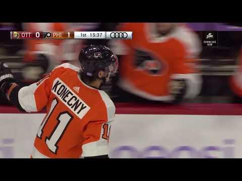 Travis Konecny Goal - Philadelphia Flyers vs Ottawa Senators (11/27/18)