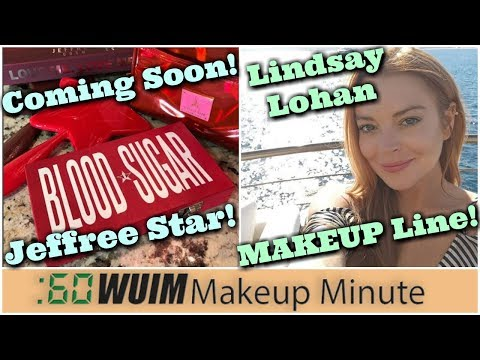Jeffree Star Blood Sugar Palette! Lindsay Lohan's MAKEUP LINE! | Makeup Minute