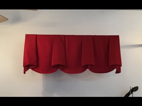 How to make scalloped valance with bells (part 2)