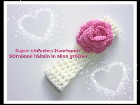 SUPER EINFACHES Stirnband / Haarband häkeln in allen grössen für ...