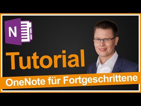 OneNote Tutorial für Fortgeschrittene