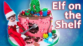 ELF ON THE SHELF CAKE - Elf Destroys Cake! from Cookies Cupcakes and Cardio